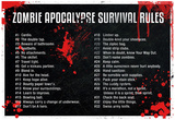 Zombie Apocalypse Survival Rules Posters