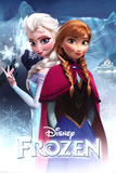 アナと雪の女王(2013)アナとエルサ 高品質プリント