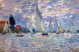 Claude Monet Les Barques Plastic Sign Plastic Sign