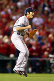 St Louis, MO - Oct 28: 2013 World Series Game 5, Red Sox v Cardinals - Koji Uehara Photographic Print by  Elsa