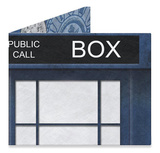 Blue Police Box 1 Artist Collective Tyvek Mighty Wallet Wallet