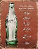 Coca-cola Script Heritage Tin Sign Tin Sign