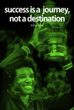 Arthur Ashe Success Green Quote iNspire Poster Poster