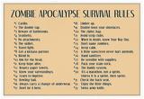 Zombie Apocalypse Rules Print