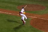 Boston, MA - Oct 30: 2013 World Series Game 6, Red Sox v Cardinals - Koji Uehara and David Ross Photographic Print by Alex Trautwig