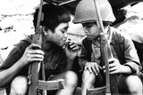 Vietnam War Kids Smoking Plastic Sign Placa de plástico