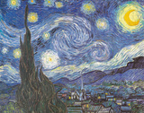 Starry Night Poster Card Print by Vincent van Gogh
