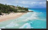 Crane Beach, St. Philip, Barbados, Caribbean Impressão em tela esticada