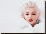 Marilyn Monroe (White) Stretched Canvas Print