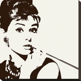 Audrey Hepburn (Cigarello) Stretched Canvas Print