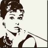 Audrey Hepburn (Cigarello) Stampa su tela