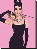 Audrey Hepburn (Pink) Toile tendue sur châssis