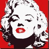 Marilyn Monroe (Red) - Şasili Gerilmiş Tuvale Reprodüksiyon