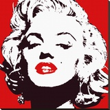 Marilyn Monroe (Red) Stretched Canvas Print