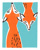 Friendly Foxes Serigrafiprint (silkscreentryck) av  Print Mafia