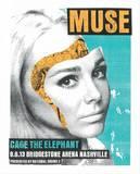 Muse - Cage the Elephant Sérigraphie par  Print Mafia