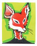 Mr. Fox Serigraph by  Print Mafia