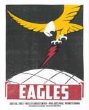 Eagles Philadelphia Serigraph by  Print Mafia