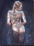 Le Flor Del Dolor Stretched Canvas Print by Luis Royo