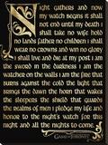 Game Of Thrones (Season 3 - Nightwatch Oath) Leinwand