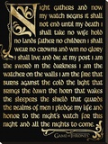 Game Of Thrones (Season 3 - Nightwatch Oath) Stretched Canvas Print