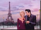Paris Sunset Reproduction transférée sur toile par Chris Consani