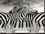 Piano Peace Stretched Canvas Print by Thomas Barbey