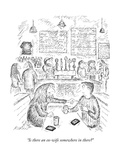 """Is there an ex-wife somewhere in there?"" - New Yorker Cartoon Premium Giclee Print by Edward Koren"