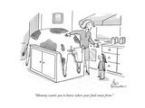 """Mommy wants you to know where your food comes from."" - New Yorker Cartoon Premium Giclee Print by Leo Cullum"