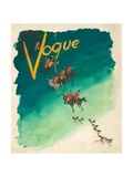 Vogue Cover - October 1938 Regular Giclee Print by Jean Pagès