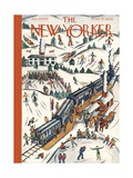 The New Yorker Cover - January 23, 1937 Premium Giclee Print by Ilonka Karasz