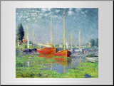 Argenteuil, circa 1872-5 Mounted Print by Claude Monet