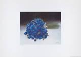 Strauß blaue Stiefmütt. MH636 Reproductions pour les collectionneurs par Heide Dahl