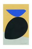 Black Egg with Bluebird Giclée-trykk av Jerry Kott