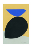 Black Egg with Bluebird Giclee Print by Jerry Kott