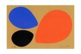 Birth/Black, Orange and Blue Eggs Giclee Print by Jerry Kott
