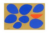 Birth/Seven Eggs with Orange Bird Giclée-trykk av Jerry Kott
