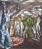 Öffnung des fünften Siegels Giclée-tryk af  El Greco