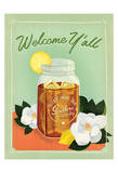 Welcome Y'all Ice Tea Print by  Anderson Design Group
