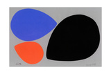 Birth/Black, Orange and Blue Eggs Giclee Print by Jerry Kott