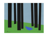 Peace/Bluebird in Black Forest Reproduction procédé giclée par Jerry Kott