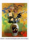 Exotische Blumen Posters by Odilon Redon