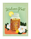 Welcome Y'all Ice Tea Poster by  Anderson Design Group