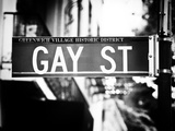 Urban Sign, Gay Street, Greenwich Village District, Manhattan, New York, Old Photographic Print by Philippe Hugonnard