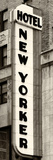 Hotel New Yorker, Signboard, Manhattan, New York, US, Vertical Panoramic View, Sepia Photography Photographie par Philippe Hugonnard