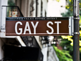 Urban Sign, Gay Street, Greenwich Village District, Manhattan, New York, United States, USA Photographic Print by Philippe Hugonnard