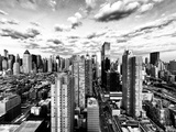 Skyline Manhattan at Sunset, Landscape View Times Square and 42 Street, Midtown Manhattan, New York Photographic Print by Philippe Hugonnard