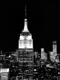 Top of the Empire State Building and One World Trade Center by Night, Manhattan, NYC Photographic Print by Philippe Hugonnard
