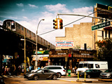 Urban Scene, Coney Island Av and Subway Station, Brooklyn, Ny, United States, USA Photographic Print by Philippe Hugonnard