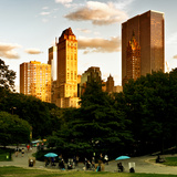 View of the Buildings around Central Park on a Summer Evening at Sunset, Manhattan, New York Photographic Print by Philippe Hugonnard